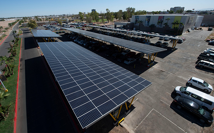 solar carport at CETYS Mexicali campus