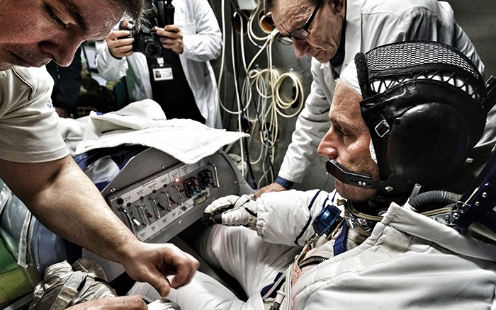 Pilot preparing to fly inside SolarStratos airplane