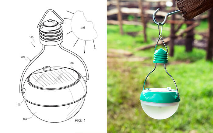 Nokero Solar Powered Lamp Drawing