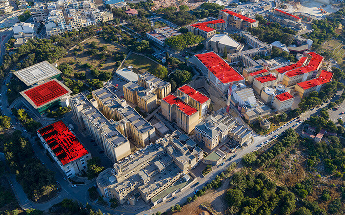 Rooftop with Solar Panels - University of Malta