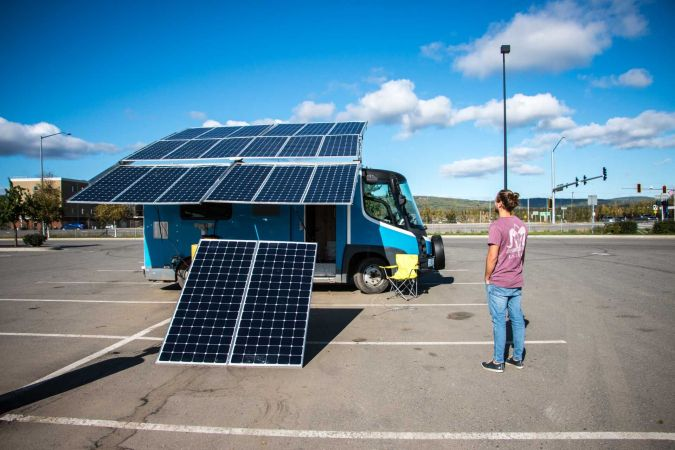oute Del Sol is driving a 100% electric, solar powered camper van thanks to SunPower solar technology supported by Galt Energy.
