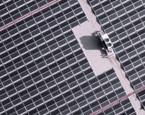 aerial view of SunPower Performance 3 solar panels
