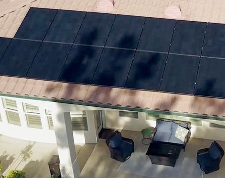 shade on rooftop solar panels