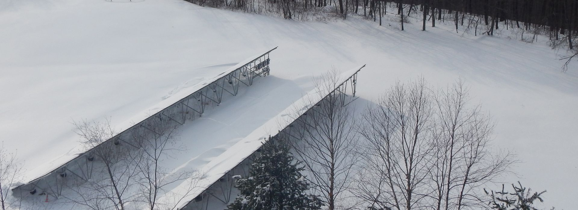 solar panels covered in snow