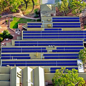 sunpower solar panels on a commercial building in australia