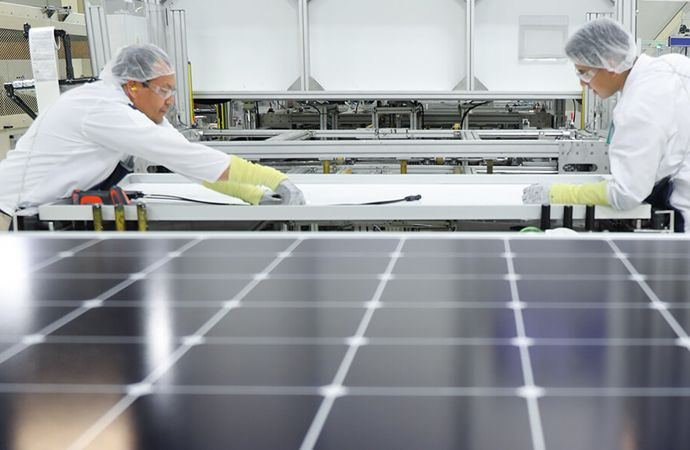 solar panel sustainability Mexicali manufacturing plant