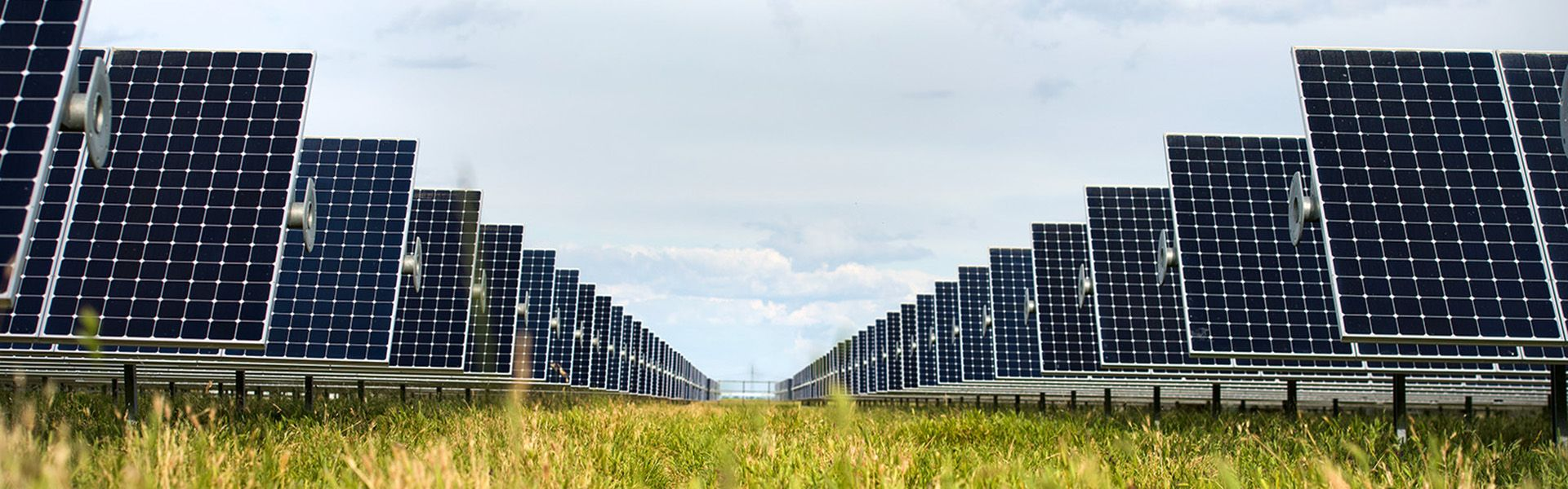 sunpower solar array in field with green grass