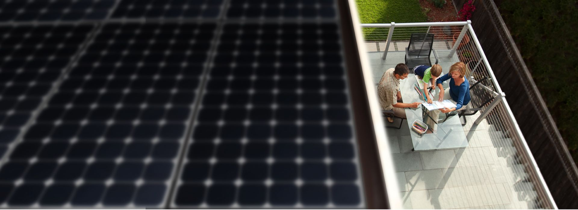 rooftop solar panels on an Italian home