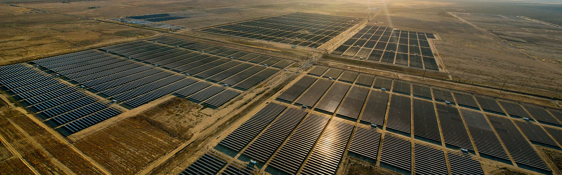 large scale solar power plant
