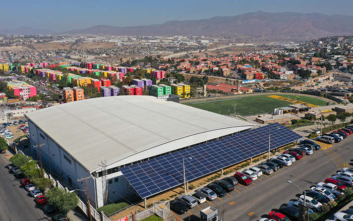 SunPower performance panels, Tijuana campus