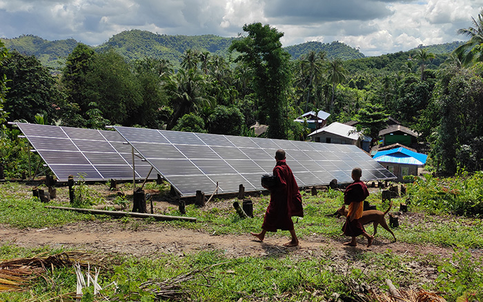 Myanmar Solar Panels Ground