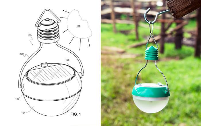 Nokero Solar Powered Lamp Drawing