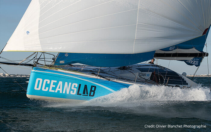 Phil Sharp Racing Boat with Maxeon Solar Cells