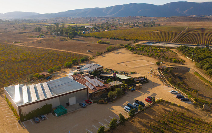 Rooftop Solar Panel Installation on Corona del Valle Winery
