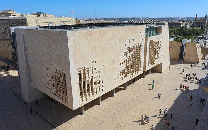 Rooftop Solar System on Parliament Building Malta