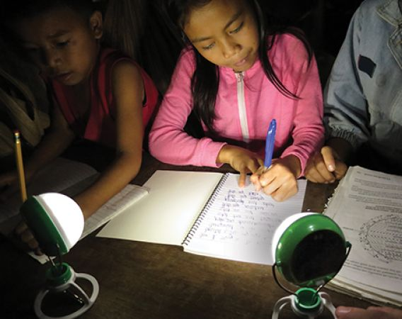 Nokero solar powered lamps