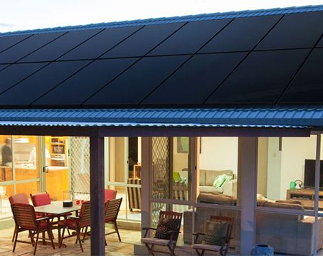 Residential home with sunpower performance solar panels on roof