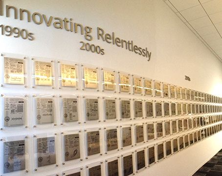 SunPower wall of patents