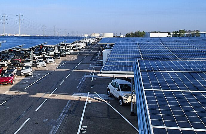 Largest France Solar Carport Use Maxeon Solar Panels