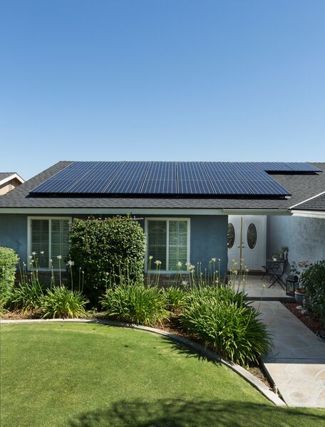 Home with SunPower maxeon solar panels