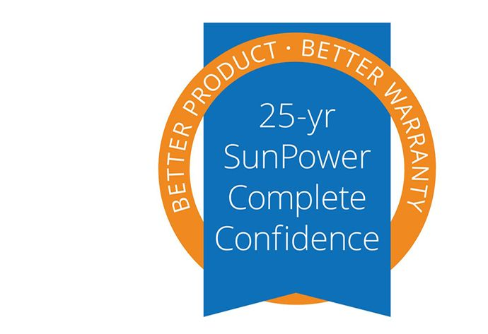 SunPower 25 year complete confidence warranty