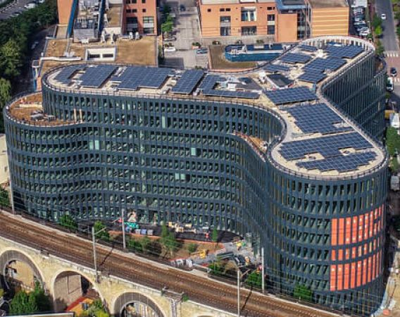 Be Issy, SunPower solar installation, first green building in France