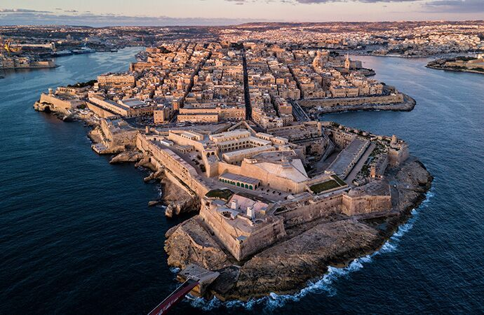 The Island of Malta at dusk