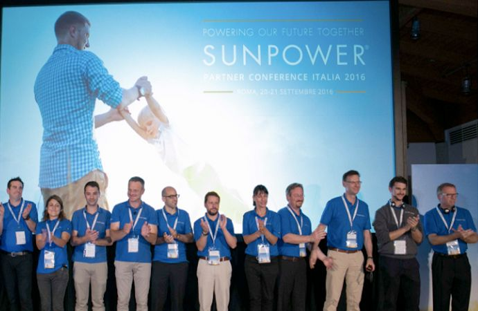SunPower employees celebrating 10 years in Italy