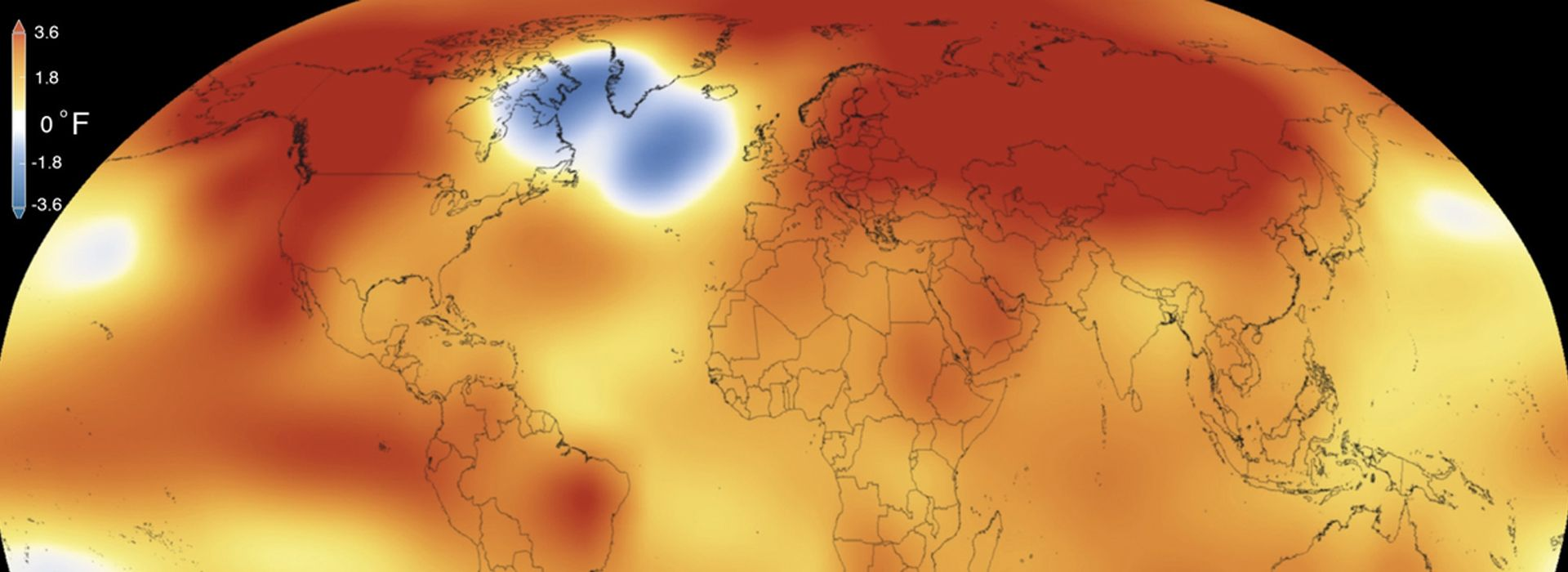 NASA heat map of earth