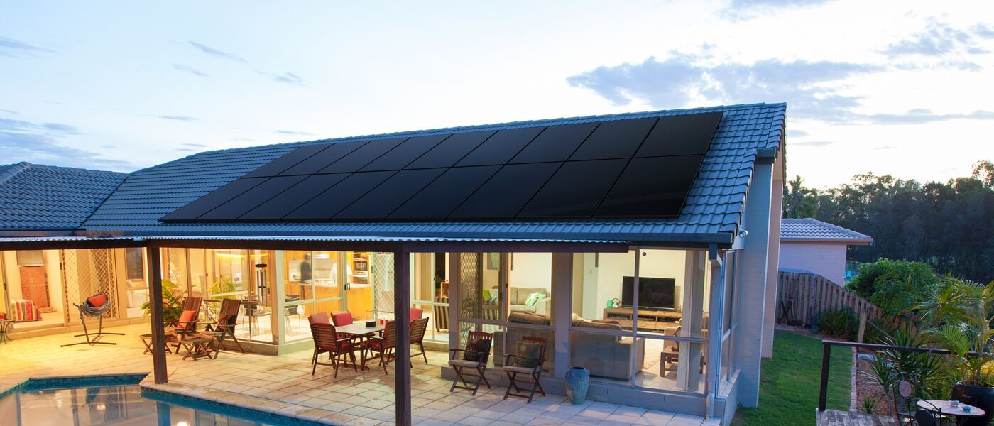 Image of home with solar panels