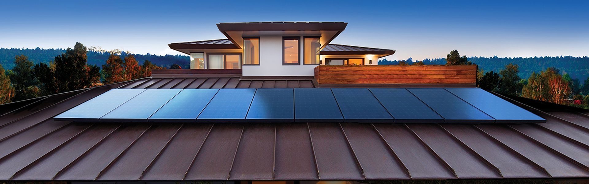 residential home with sunpower solar panels and blue sky