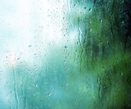 humidity, water condensing on window