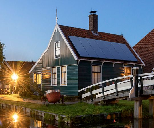 solar panels on home in Nederland