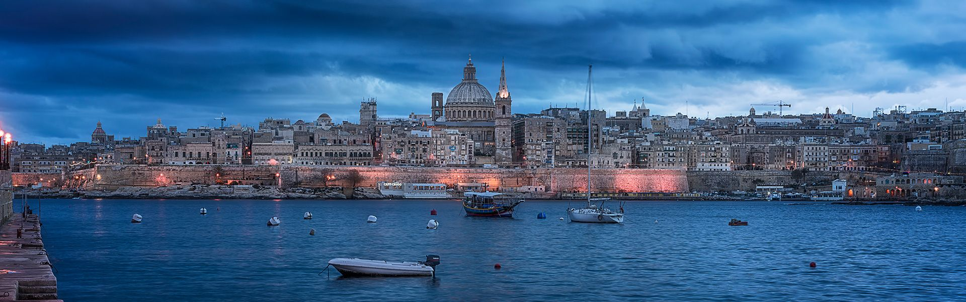 Malta skyline at dusk