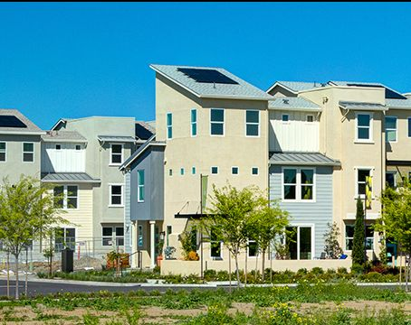 green construction using solar panels